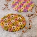 renagrenk çiçek desenli örgü nihale modeli
