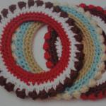 rengarenk örülmüş peçete yüzüğü modelleri