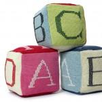 rengarenk alfabeli lego  örgü oyuncak modeli