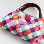 rengarenk düğmeli kumaş çanta modeli