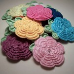 rengarenk değişik örgü çiçek örnekleri