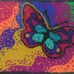 rengarenk kelebek modelli punch nakışı