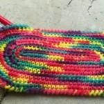rengarenk oval örgü kalem cüzdanı modeli