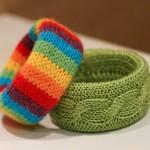 rengarenk ve yeşil örgü bilezik modelleri
