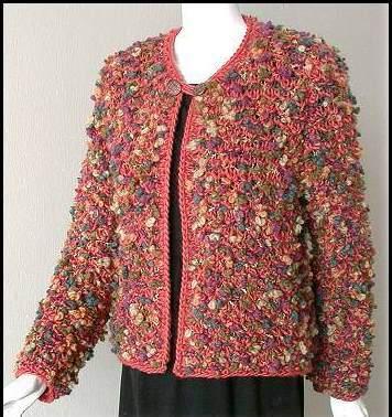 rengarenk yuvarlak yakalı abiye örgü ceket modeli