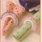renkli dantel peçte halkası modelleri