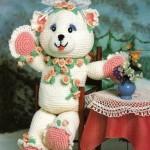 süslü sevimli örgü bayan ayıcık modeli
