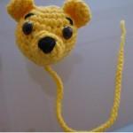 sarı ayıcık desenli örgü kitap ayracı modeli