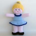 sarı topuz saçlı örgü oyuncak bebek modeli