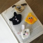 sevimli hayvancıklar desenli minik örgü ayraç modelleri