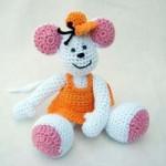 sevimli tavşancıklı örgü oyuncak modeli