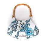 tahta kulplu kumaş çanta modeli