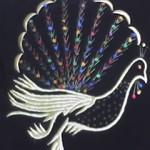 tavus kuşu desenli maraş işi kırlent modelş