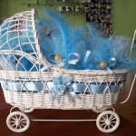 tekerlekli mavi erkek bebek sepeti modeli