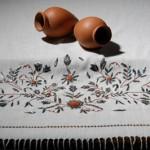 tel kırma çiçek desenli örtü modeli