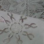 tel kırma çiçek desenli peçete modeli