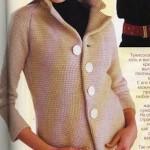tunus işi kremrengi abiye örgü ceket modeli