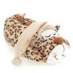 uyuyan leopar figürlü panduf modeli