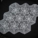 yıldız motifli dantel tepsi örtüsü modeli