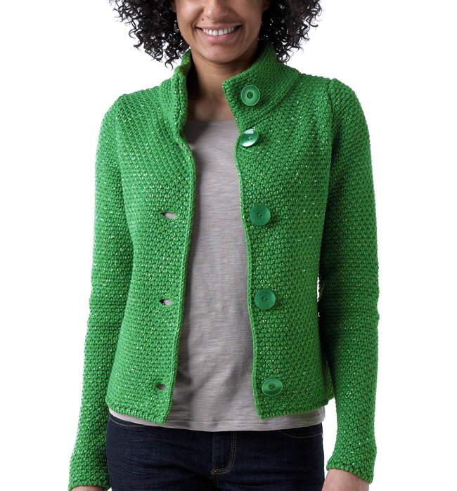 yeşil önden düğmeli abiye örgü ceket modeli