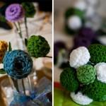 yeşil beyaz örgü yuvarlak çiçek modelleri
