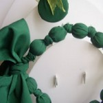 yeşil kurdaleli kumaş kolye modeli