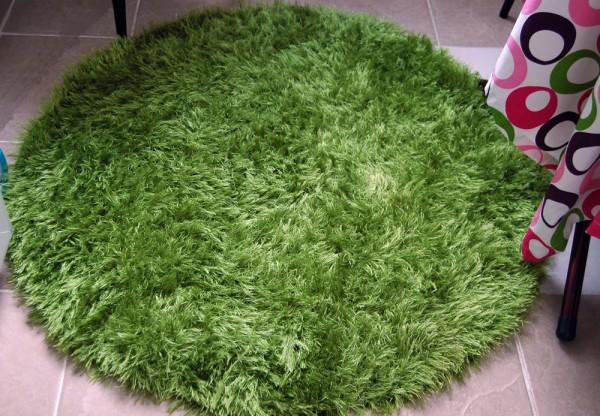 yuvarlak yeşil sakallı ip paspas modeli
