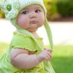 örgü bebek bere modelleri yeşil