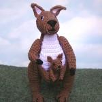 örgü kanguru ve yavrusu hayvan modeli