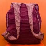örgü sırt çantası arkadan görünüş modeli