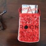 kırmızı örgü müzik kitabı çantası modeli