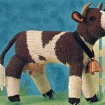 kahverengi inek örgü hayvan modeli