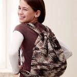 kahverengi tonlarında örgü sırt çantası modeli