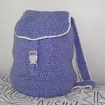 koyu eflatun renkli örgü sırt çantası modeli