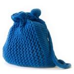 koyu mavi çok şık örgü sırt çantası modeli