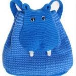 mavi hayvancıklı örgü sırt çantası modeli