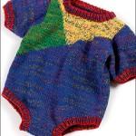 rengarenk örgü bebek tulumu modeli