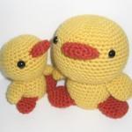 sarı civcivler örgü hayvanlar modeli