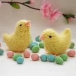 sarı minik örgü kuşlar modeli