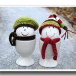 sevgili için çok şeker hediye örgü kardan adam modelleri