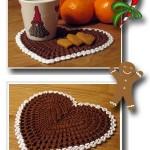 sevgili için örgü hediyelik kalp servis modeli