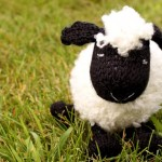 sevimli beyaz örgü koyun modeli