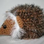 sevimli kirpi örgü hayvan modeli