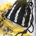 siyah beyaz örgü sırt çantası modeli