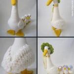 el işi örgü hayvan ördek örnekleri yapılışı modelleri