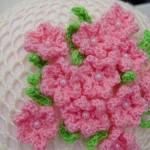 çiçek motifli yuvarlak kırlent
