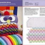 örgü baykuş desenli yastık