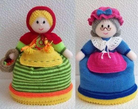 Вязаная кукла грелка на чайник своими руками 70