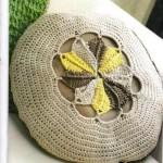 örgü motifli yastık modeli