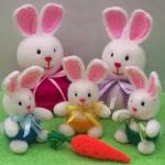 örgüden çok şirin tavşanlar